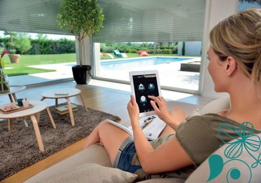 Accionamiento motor con tablet