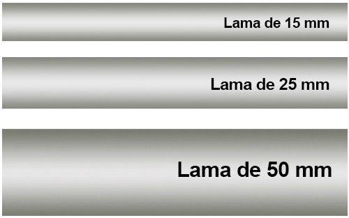 ancho de lama aluminio
