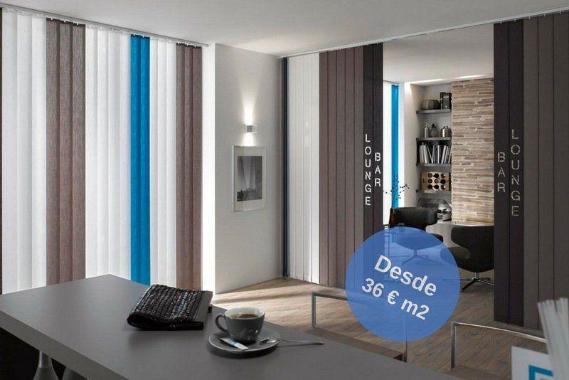 lamas de cortinas combinadas en colores
