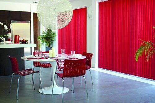 vertical blinds slate red