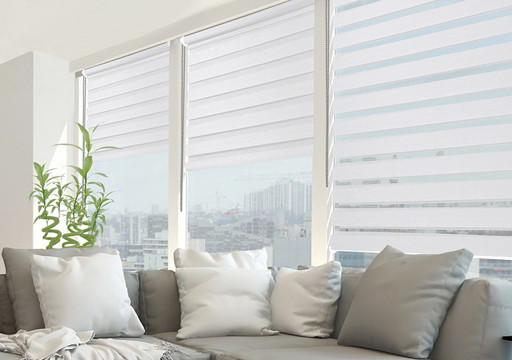 cortinas noche y dia blancas