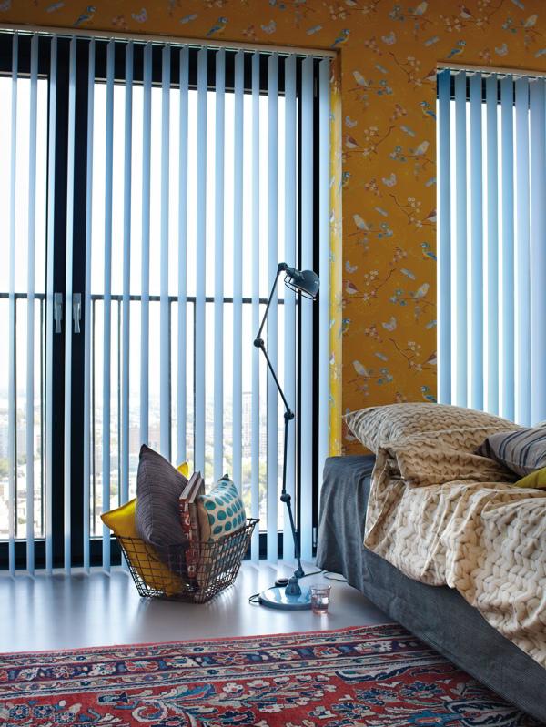vertical blinds bedroom