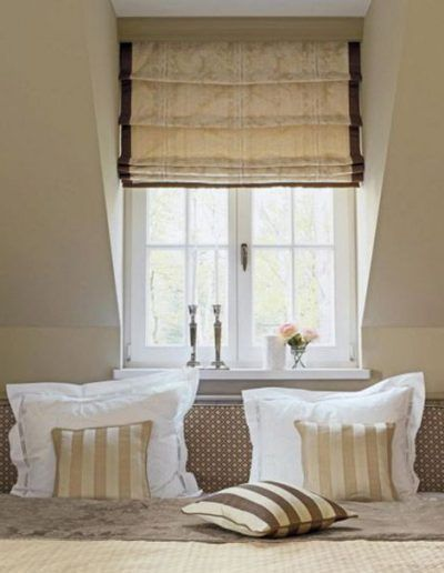 roman blinds bath rustic