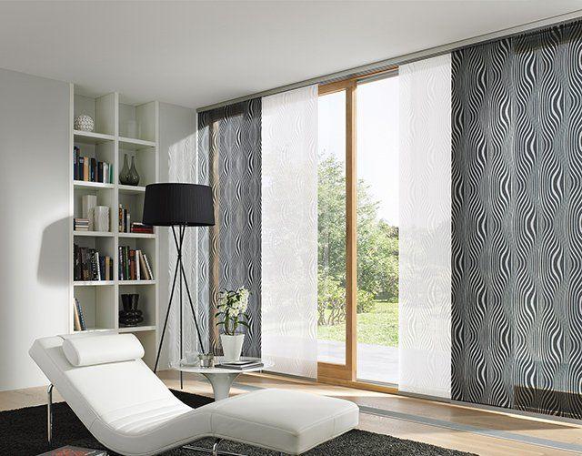 panel blinds black