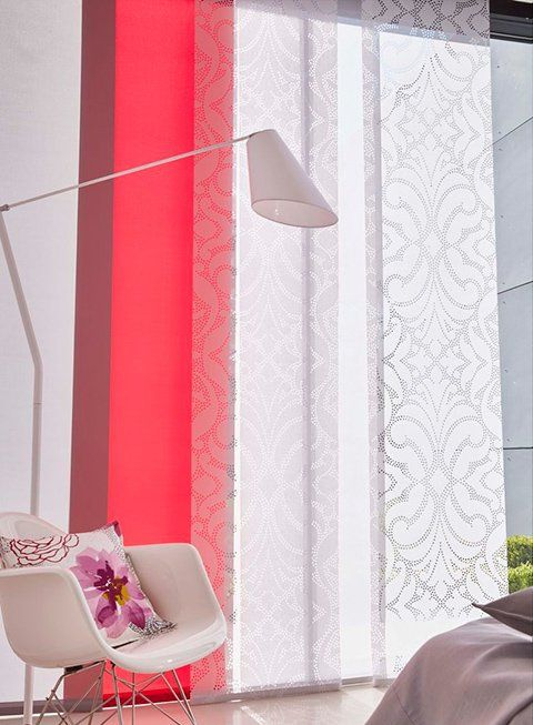 panel blinds red