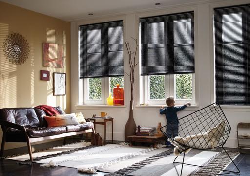 venetian blind living room
