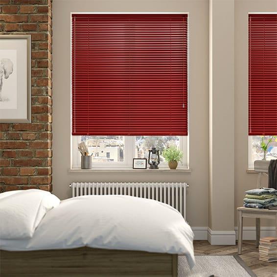 venetian blinds red